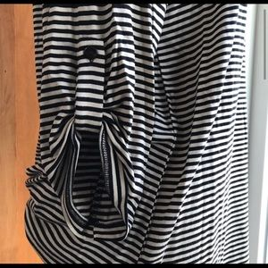 Cupio Tops - Cupio Tan & Black Striped Stretchy Tunic Top *I9